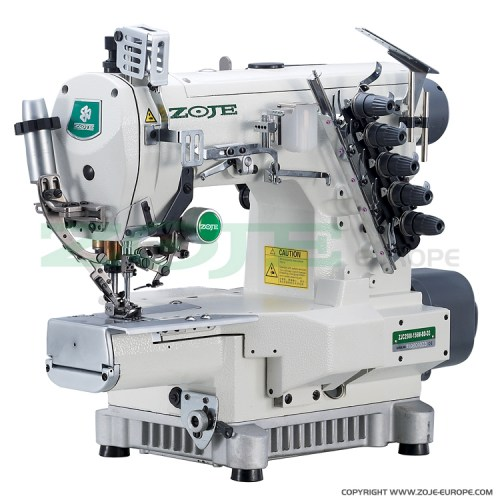 ZOJE-ZJC2500-164M-BD-D3-SET-3-needle-cylinder-bed-coverstitch-(interlock)-machine-with-electromagnetic-automatic-thread-trimmer-and-built-in-AC-Servo-motor---complete-sewing-machine
